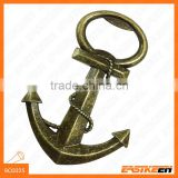 Boat anchor design bronze color metal bottle opener