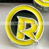 """Robin"" Letter Slide Charms Fit to 8mm Wristbands Alphabet Charms Wholesale"