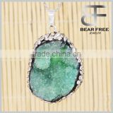 Natural Irregular Agate Druzy Drusy Geode Pendant Healing Energy Agate Crystal for Women