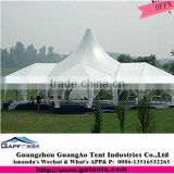 China supplier manufacture hot sell clear top peak pole tent