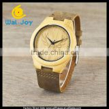 WJ-5357 wholesale genuine leather strap deer wood face vogue high popularity watches