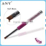ANY Professional Nail Art French Smile Nails Painting Purple Rhinestone UV Gel High Quality Nail Brush
