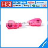 school stationery transparent pink colored correction tape