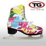 New design professinal Colorful Figure Ice Skates for girls women great stability High quality skate boots for winter sport