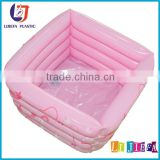 Pink PVC Inflatable Baby Bath Pool,Inflatable Pool