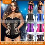 Woman Black White Red Satin Lace Corset Lingerie Slimming Body Shaper under bust Zipper Corset and Bustier Waist Trainer