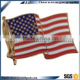 Popular new arrival customized enamel american flag lapel pin with gift box