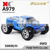 WL A979 Mini RC Car 1:18 2.4G Remote Control Cars High Speed RC Monster Truck 4WD Dirt Bike with Original
