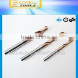Tungsten carbide drill bit Micro Grain Altin coated for processing harder steel HRC 45,HRC50,HRC55