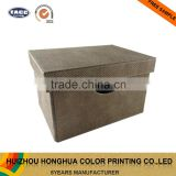 Gift Boxes Wholesale Custom PU Leather Flip-Top Box Wooden Storage Box Organizer Box Packaging Box