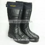 men black eva electrical shock safety rain boots with removable sock