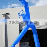 2 legs inflatable air dancer with billboard / 2 legs blue inflatable air dancer