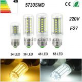 E27 Led Lamps 5730 lampada led 220v 7W 12W 15W 18W 20W LED Lights Corn Led ampolleta Bulb bombillas
