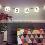 Official Retro String Scrabble Letters Hanging Lights with compound lighting and charging colour for Fairy Lamp Boxed Gift etc
