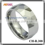 2015 Faceted tungsten/ jewelry mens/ differ width friends rings,primary color tungsten carbide, on rings