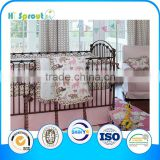 New Design 100% Cotton Embroidery Baby Crib Bedding Set Wholesale