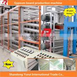 buy China gypsum machinery, small investment automatic plasterboard production line 30years