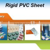 white opaque rigid clear for medical blister packaging PVC plastic film