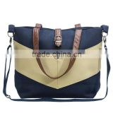 Navy color canvas mummy travel diaper shoulder bag baby kit bag