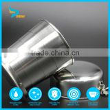 stainless steel collapsible travel coffee tea cup