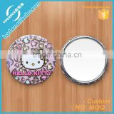 Decorative Mini Tinplate Metal Mirrors/Make Up Mirror/Tinplate Pocket Mirrors/Compact mirror/Folding mirror