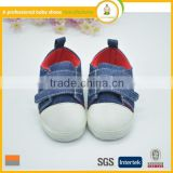 Fashion lovely style baby jeans materail embroider shoe kids fashion leisure sports shoes