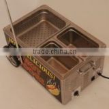 HOT DOG Table Top Steamer Cart