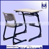 High quality Melamine comfortable standard middle school single desk and chair set MG-0235