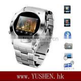 W968 1.5 inch touch screen metal wrist watch cell