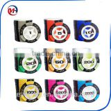 14pcs/set High quality Poker Chips 14g Clay/Iron/ABS Casino Chips Texas Hold'em Poker Wholesale Wheat Crowne Poker Chips