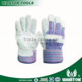 "GL031 10.5"" half lined,full palm cow split leather work glove"