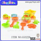 Popular plastic sand beach garbage truck toy , plastic tow truck toy , cleaning truck toy