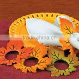 alibaba express best high quality home decoration new products custom fabric felt crown shaped napkin ring made in china