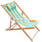 Beautiful and stylish design foldable wooden canvas deck chair