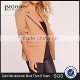 MGOO Custom Made Women Short Slim Fitting Suit Blazers Nude Blazer Military One Button Office Blazers