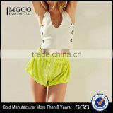 MGOO Wholesale Solid Color Booty Shorts Women Velour Relaxed-fit Shorty Short With Dolphin Hems