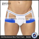 New Arrival Fashion Elastic Band Jockstraps Underwear Bottom Price Blue White Cotton Inflatble Thongs