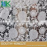 2016 FASHION Lace Fabric White milk silk flower leaves senior apparel fabrics bilateral positioning s 130cm wide 2016 FASHION40