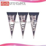 Custom high quality paper party banner christmas decorative polyesterpolyester flag strings