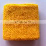 Embrodiery Sports Cotton Yellow Plain Sweatbands