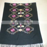 four rhombus embroider scarf 170*68cm lady's scarf woman shawl