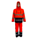 guaranteed quality safety overall pvc reusable waterproof rain coat