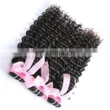 Natural human hair thick end virgin hair weave wholesale deep wave peruvian hair weft
