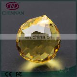 China yiwu 40mm high quality faceted crystal cheap glass beads for chandelier