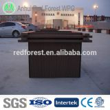 composite wooden flower boxes stand/wpc flower planter