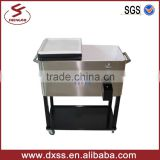 Stainless steel cooler box with wheels (C-006)