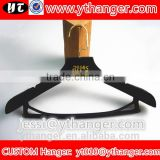 YY0520 high end men suit clothes velvet hangers with bar logo mens t shirts plastic hanger                                                                                                         Supplier's Choice