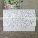 Inquiry about Hot Sale Many Color Choose Royal Laser Cutting White Wedding Invitation Cards