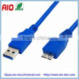 fully backward compatible with USB 2.0/1.1 devices and computers 5Gpbs USB 3.0 A Male to Micro B Male Cable