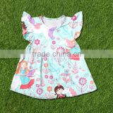 child dress print fabric new model girl dress 2016 china supplier custom t shirt printing
